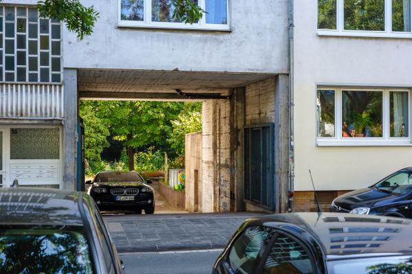 Eingang zum Gartenfeld in der Forsterstraße
